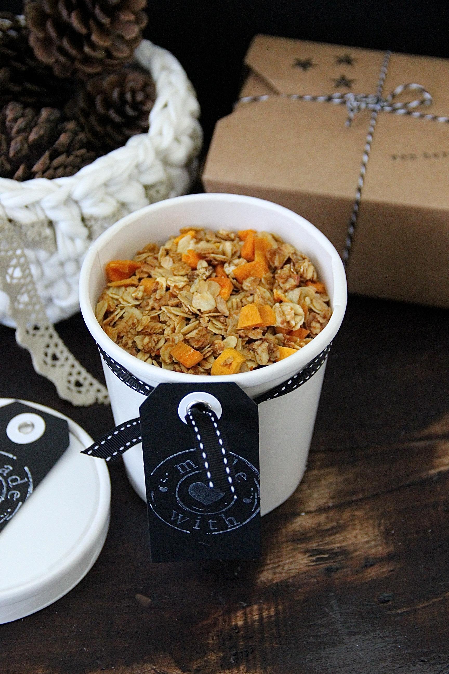 Leckeres Mango Granola Rezept DIY Geschenke aus der Küche Weihnachten Advent