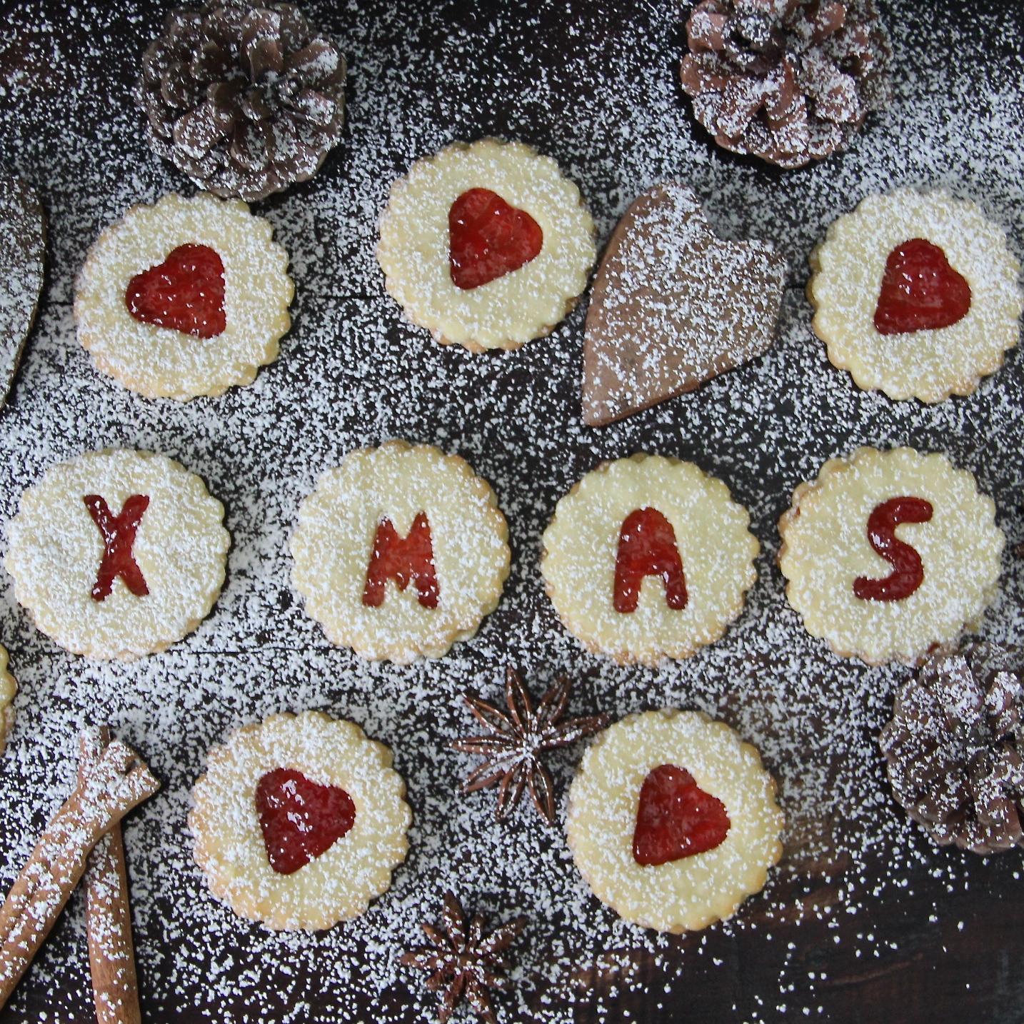 Bestes Spitzbuben Linzer Rezept DIY Geschenke aus der Küche Weihnachten Advent