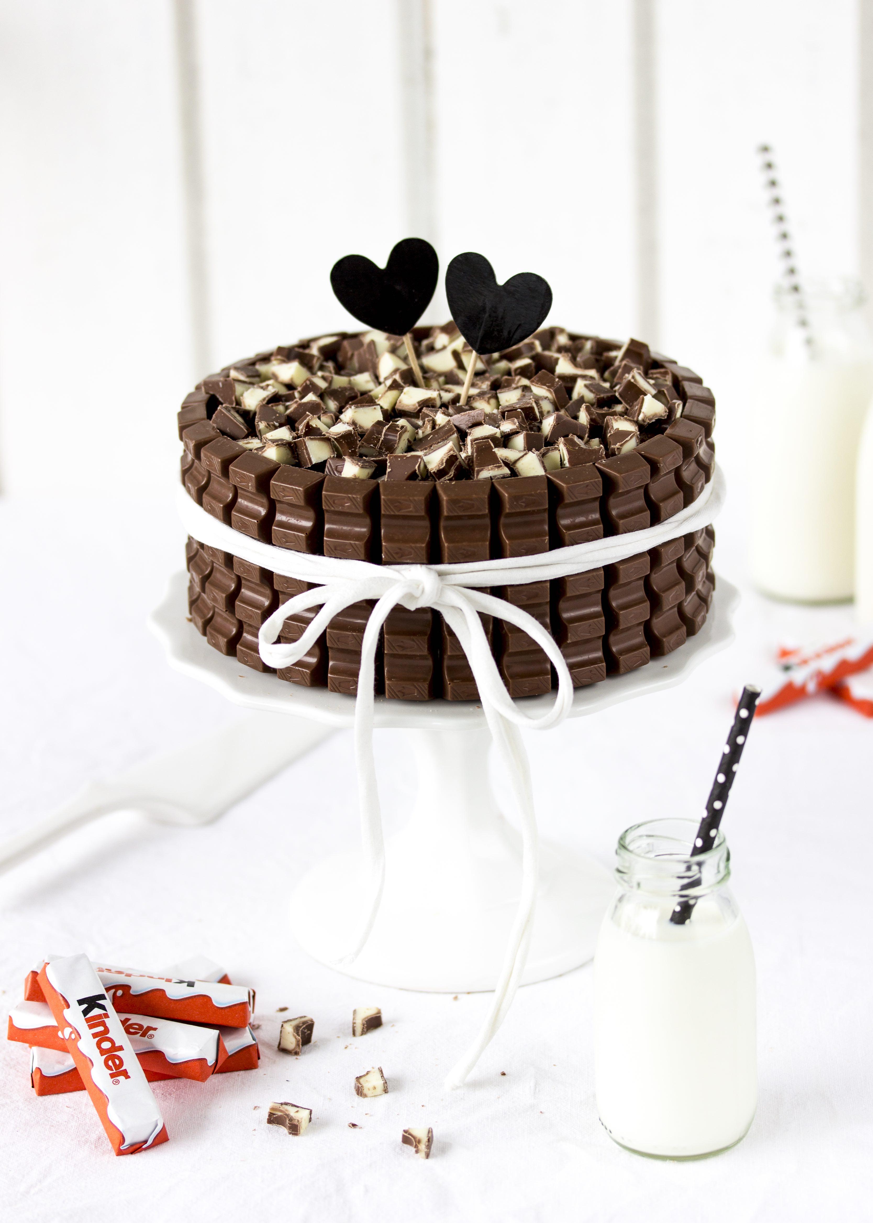 Rezept einfache Kinder Schokolade Torte Kindergeburtstag Geburtstagstorte schnel