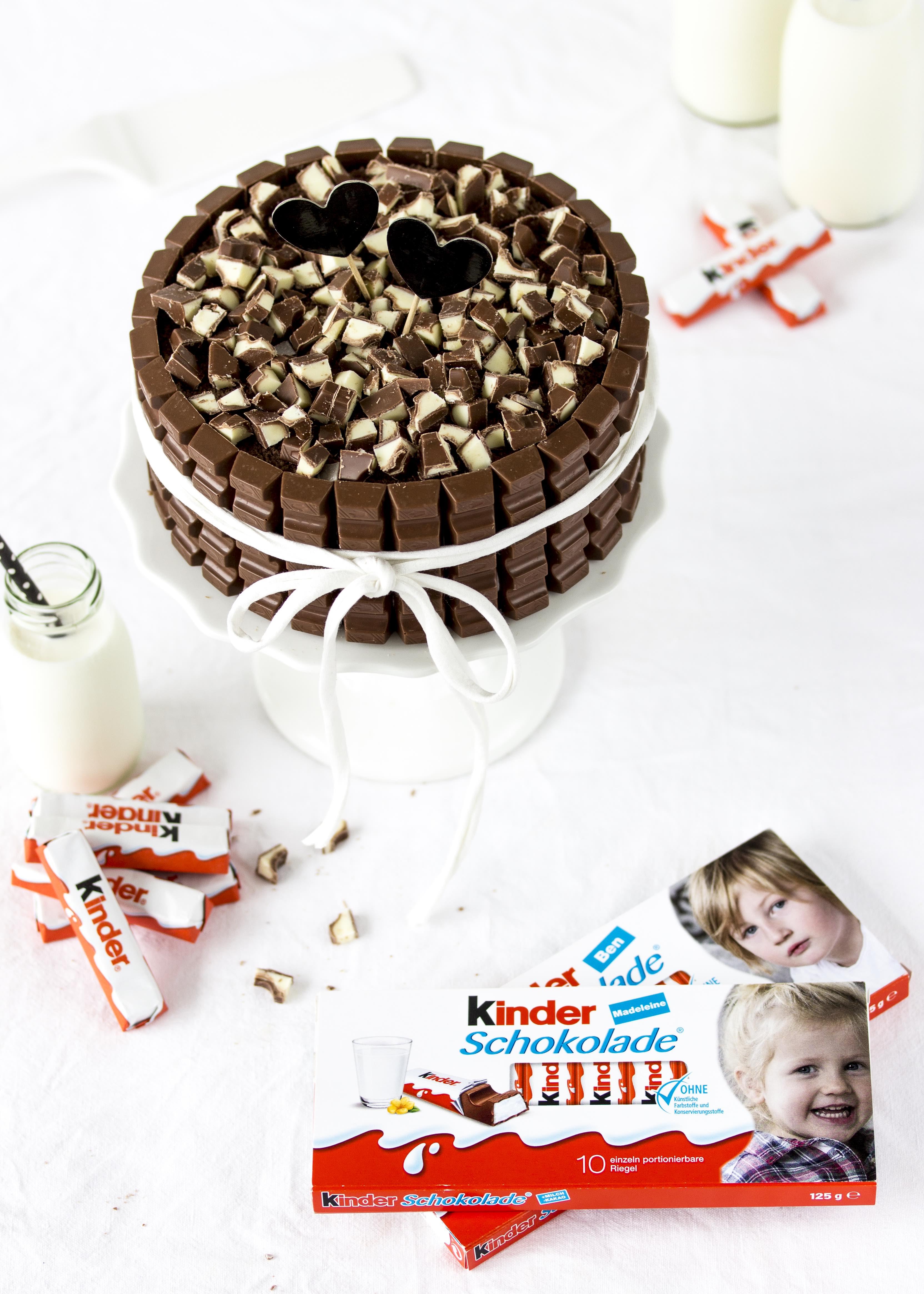 Rezept einfache Kinder Schokolade Torte Kindergeburtstag Geburtstagstorte schnell