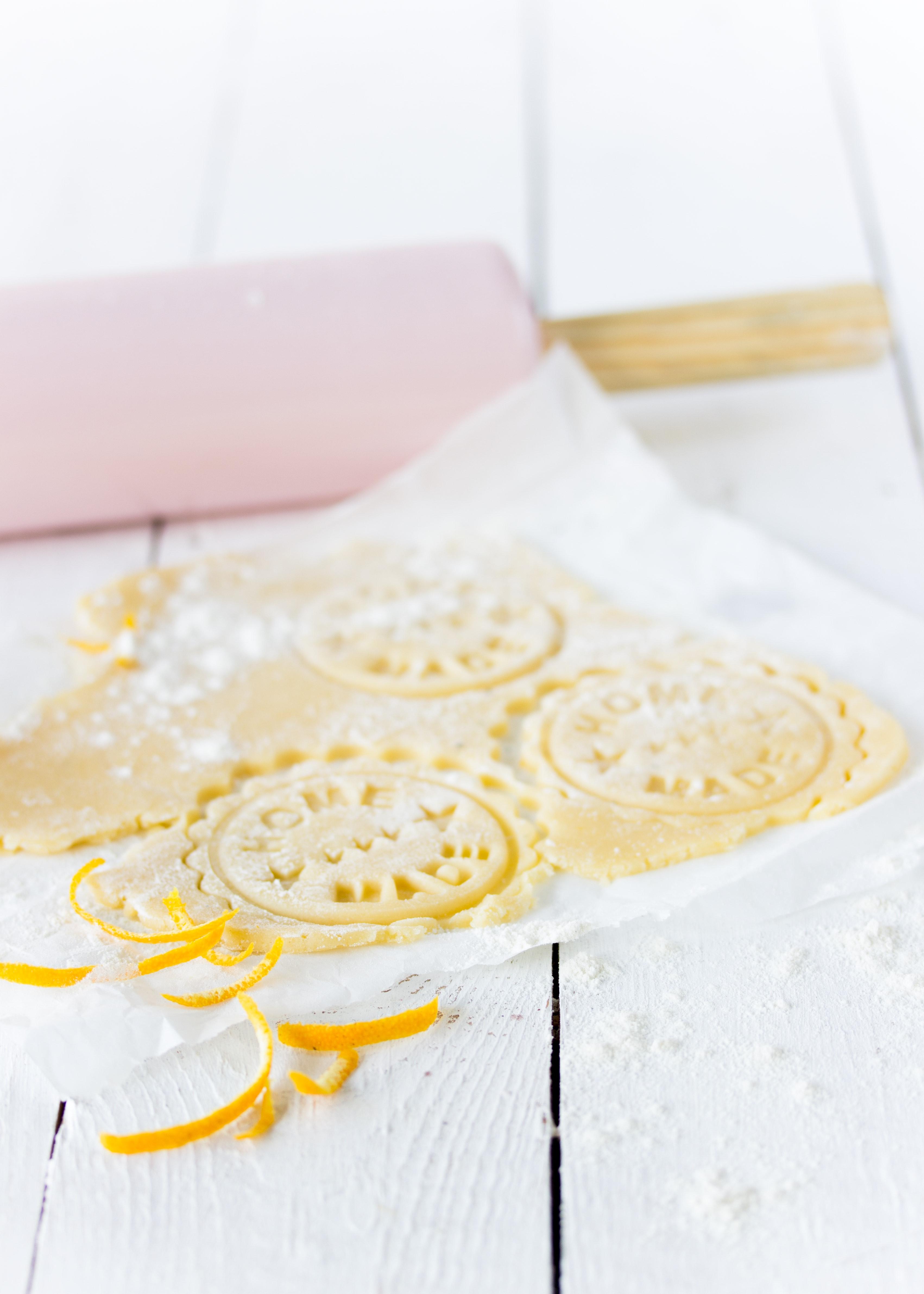 (Werbung) Orangen Joghurt Stempelkekse Rezept Weihnachten Plätzchen backen