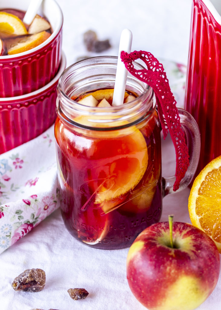 Apfel Canberry Punsch Rezept Cranberry Kandis Crunch Nüsse Cheeseake #cheesecake #cake #kuchen #käsekuchen #backen | Emma´s Lieblingsstücke