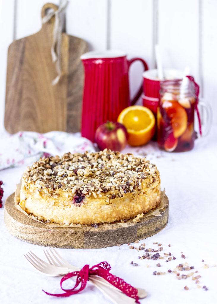 Einfaches Käsekuchen Rezept Cranberry Kandis Crunch Nüsse Cheeseake #cheesecake #cake #kuchen #käsekuchen #backen | Emma´s Lieblingsstücke