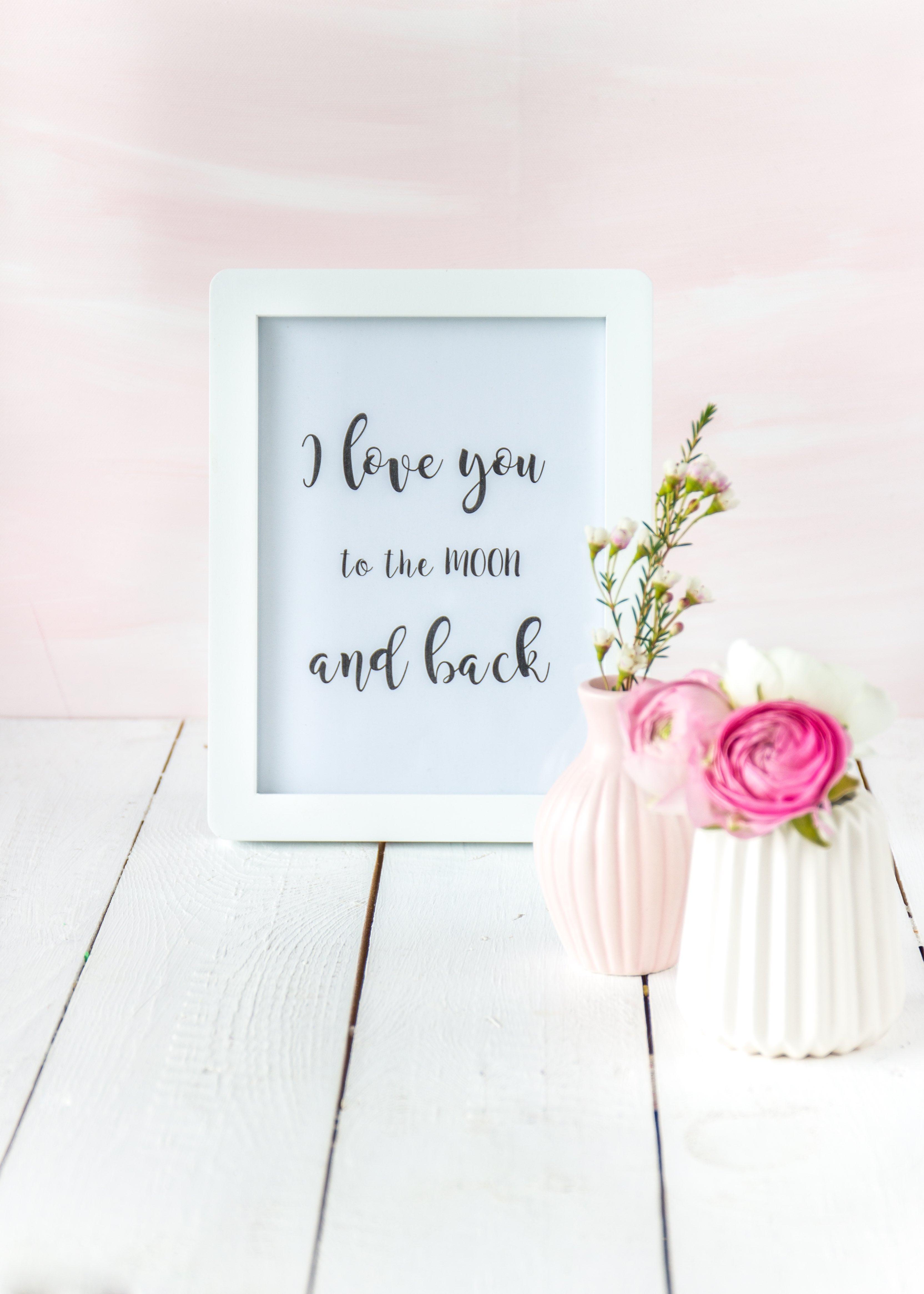 Freebie zum Valentinstag Lettering DIY #valentinstag #diy #lettering #art #freebie | Emma´s Lieblingsstücke