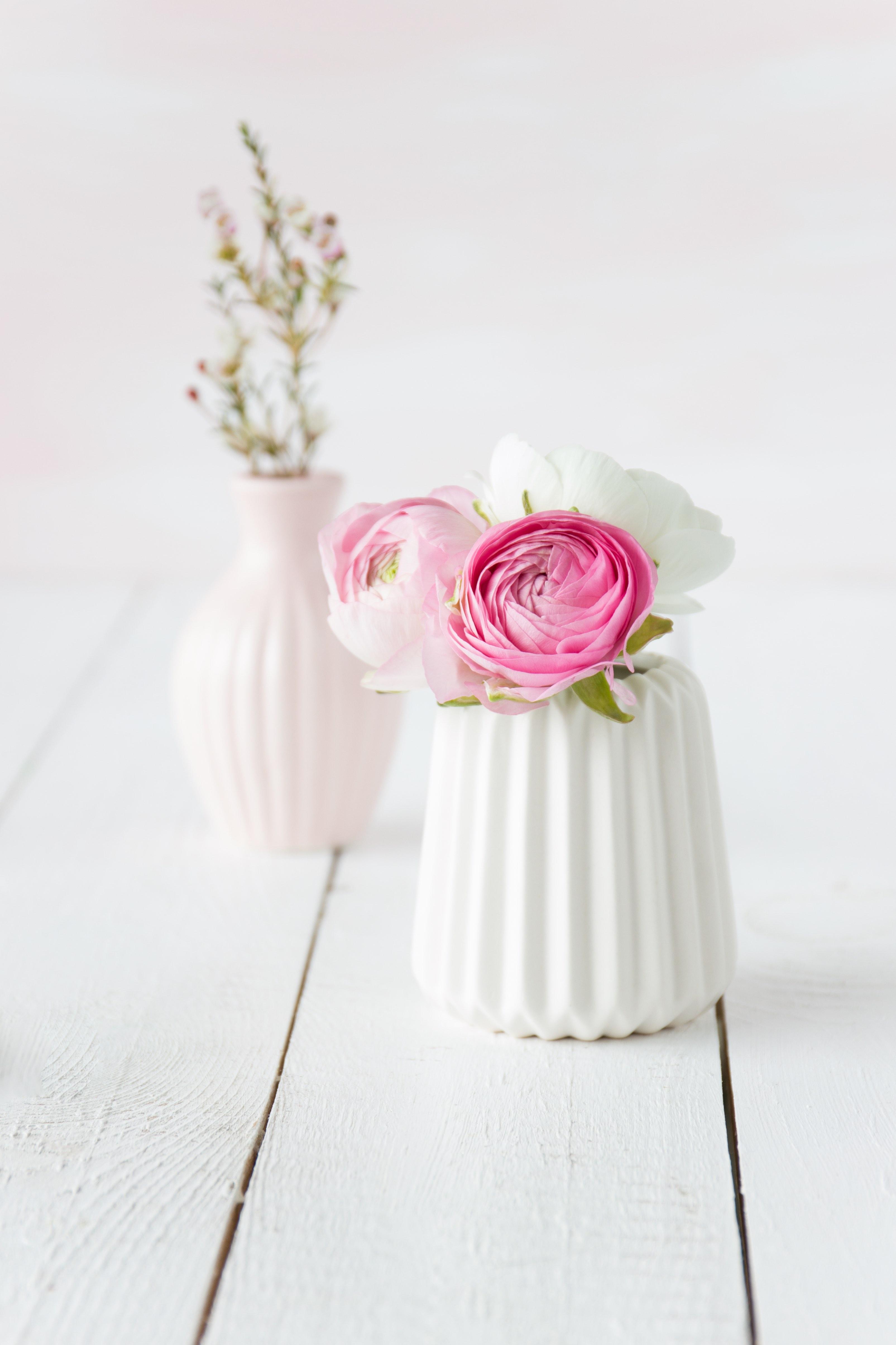 Ranunkeln in weißer Vase  | Emma´s Lieblingsstücke