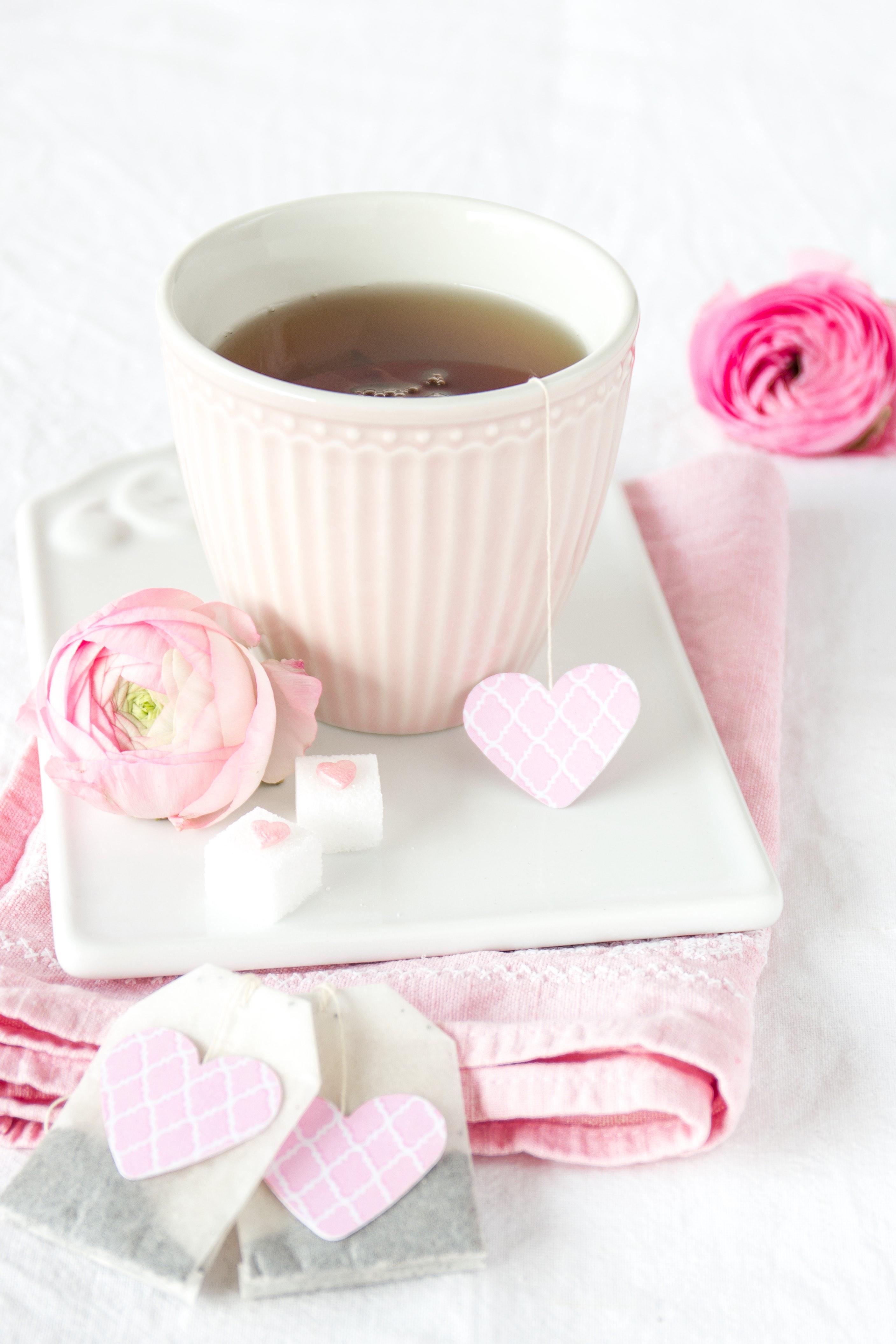 Teebetel mit Herzschild
