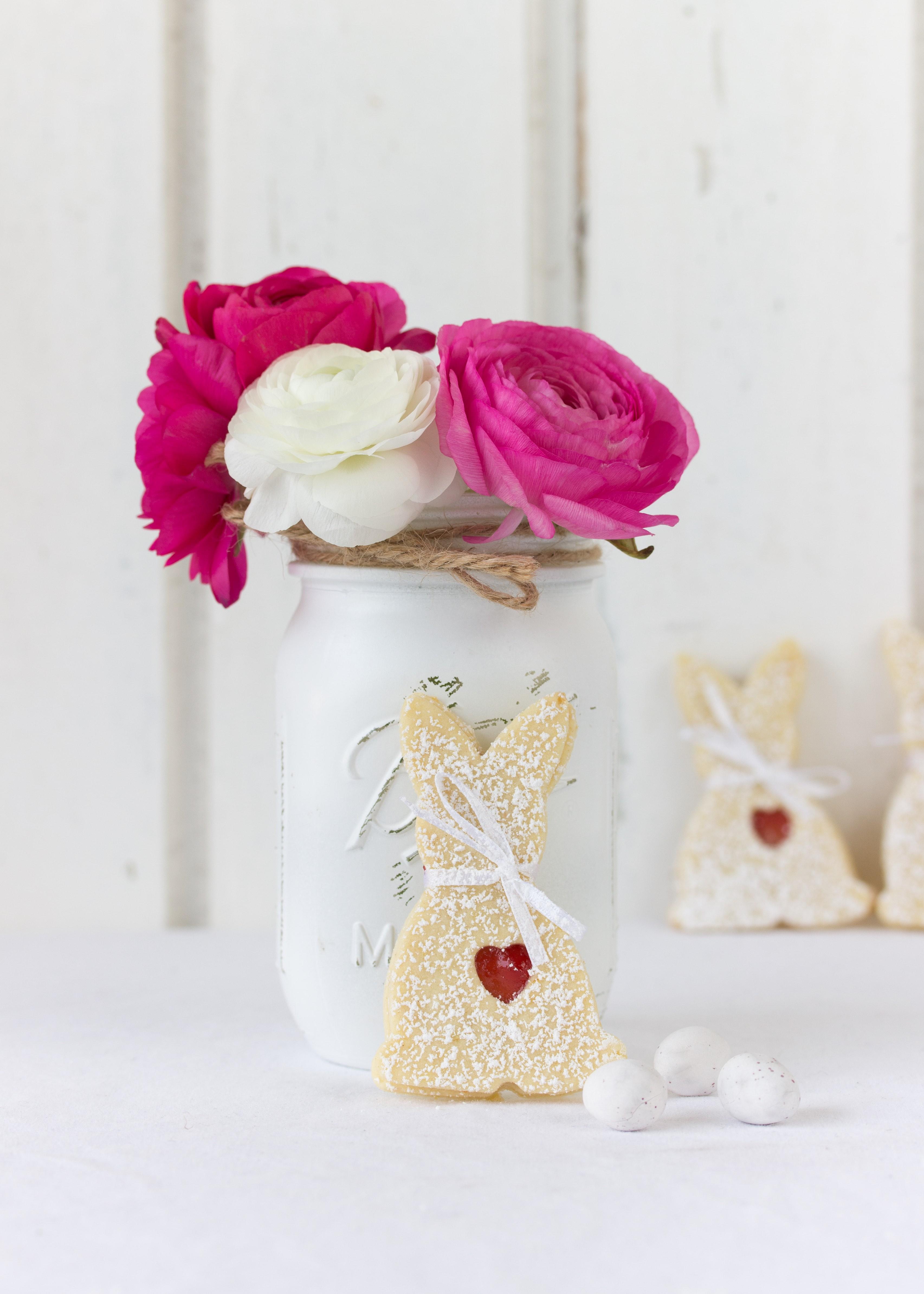 Osterhasen Kekse mit Marmelade backen Rezept Hasenkekse Ostern Kekse Plätzchen #cookies #easter #ostern #hasen | Emma´s Lieblingsstücke