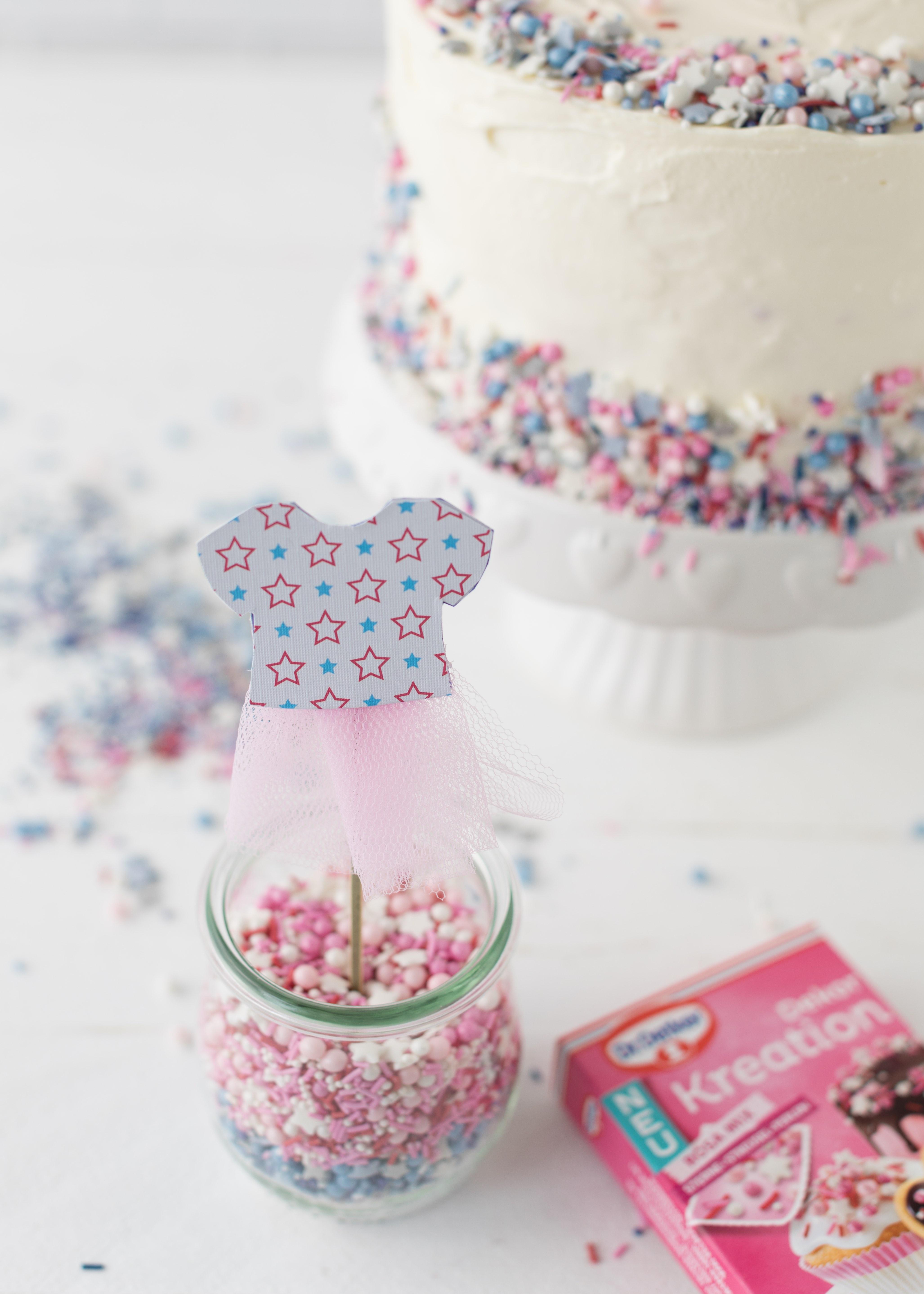 Werbung - Gender Reveal Cake Rezept Babyparty Babyshower Torte #babyshower #babyparty #genderreveal #torte #cake #backen | Emma´s Lieblingsstücke