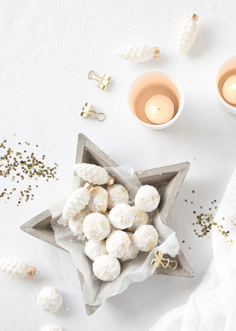 Rezept Traumstückchen Schneeflöckchen einfach Vanille Puderzucker Weihnachten Plätzchen backen #xmas #ccokies #weihnachten Emma´s Lieblingsstücke