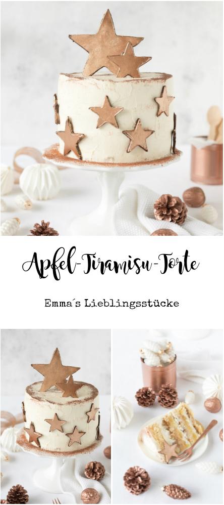 Rezept Apfel Tiramisu Torte Weihnachten Advent Kupfersterne