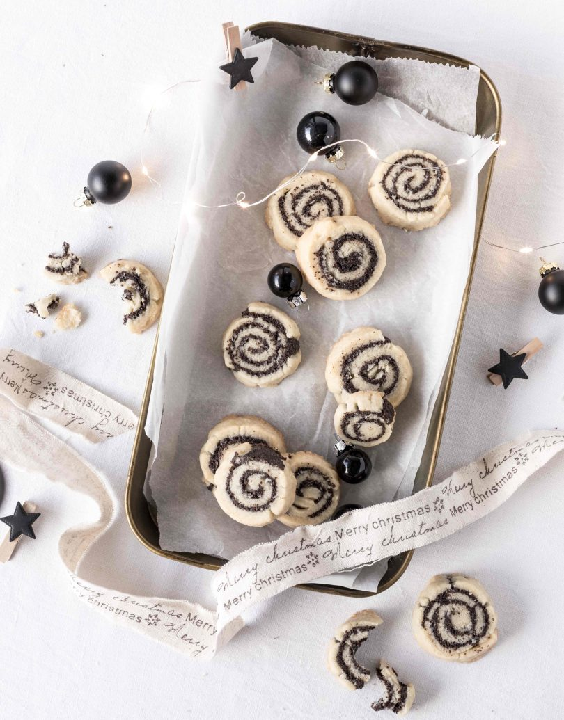 Mohn Schnecken Plätzchen Rezept backen Weihnachten Kekse Cookies Christmas popy seid #ccokies Emma´s Lieblingsstücke