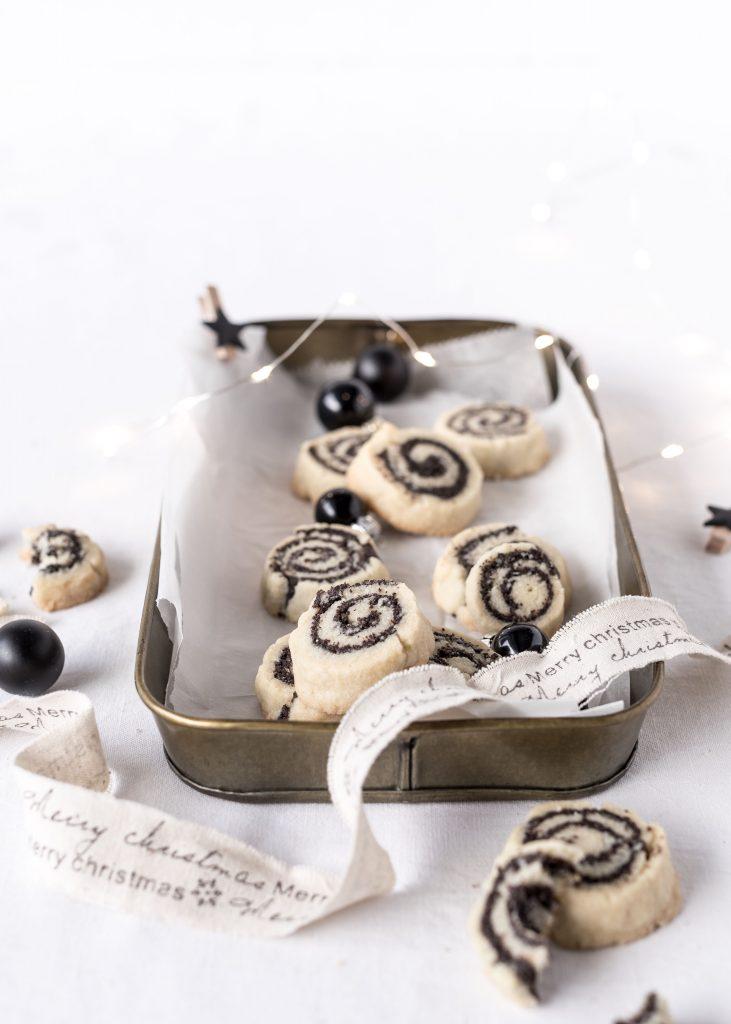 Rezept Mohnschnecken Mohn Mürbeteig Plätzchen Weihnachten Backen Kekse Backblog