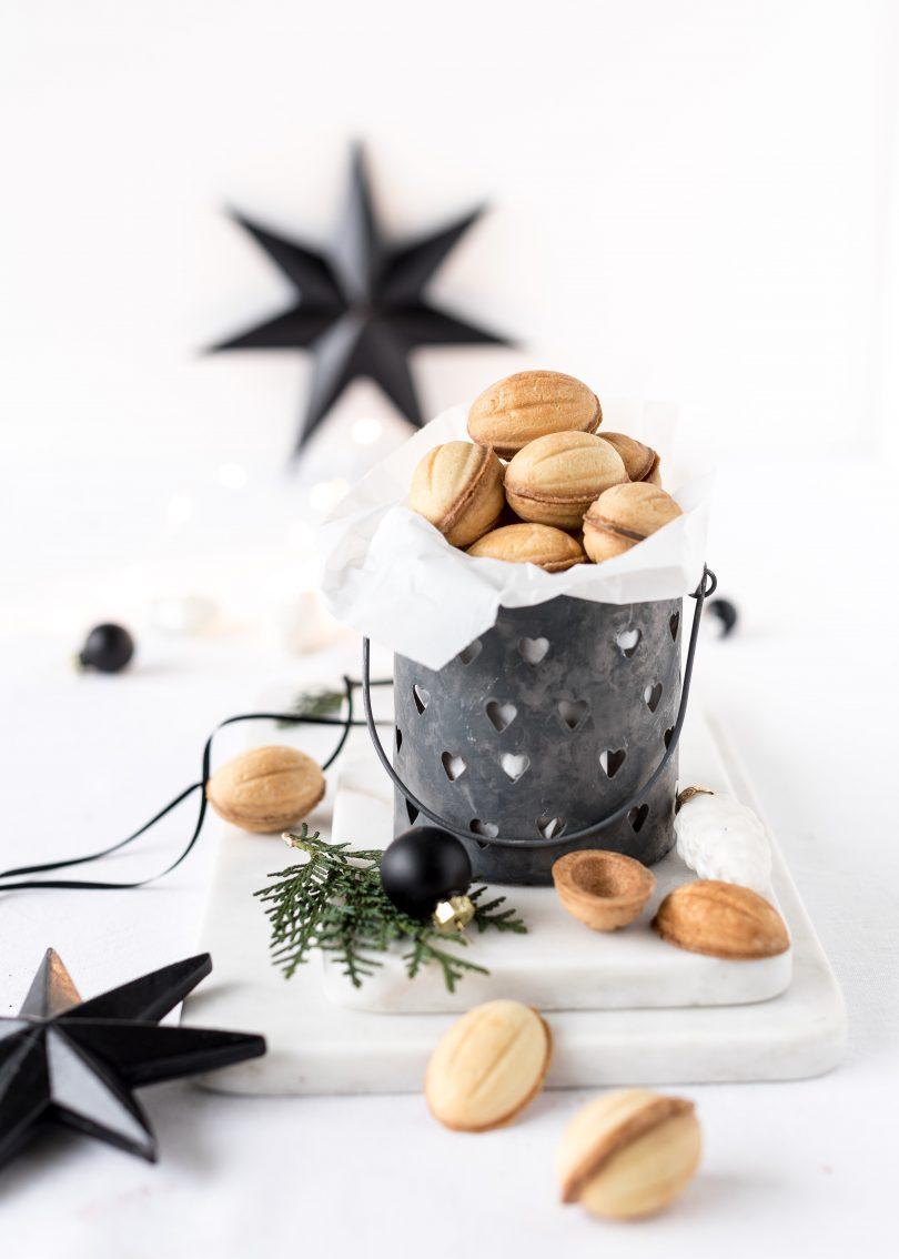 Rezept Oreschki - russische Zaubernüsse mit Karamell backen Weihnachten Plätzchen Christmas Emmas Lieblingsstücke