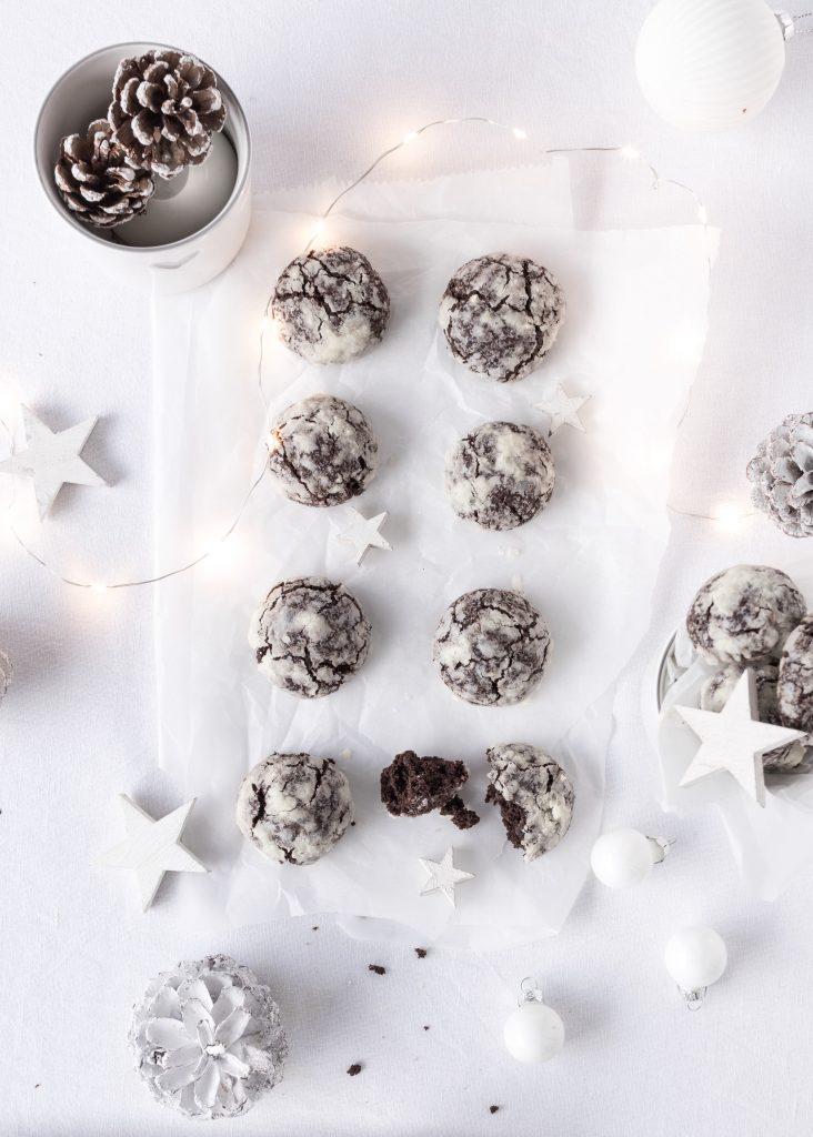 Rezept Schokoladen Schneebälle Cookies Chocolate Crackles Backen Backblog