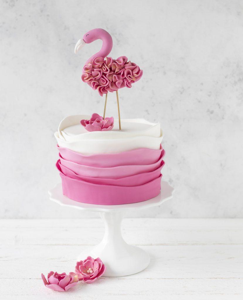 Flamingo Fondant Torte Motivtorte backen Backbuch #flamingo #fondant #cake #torte | Emma´s Lieblingsstücke