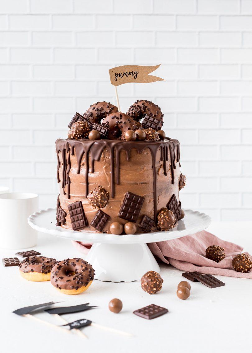 Rezept Nutella Drip Cake Schokolade Torte backen lecker Geburtagstorte