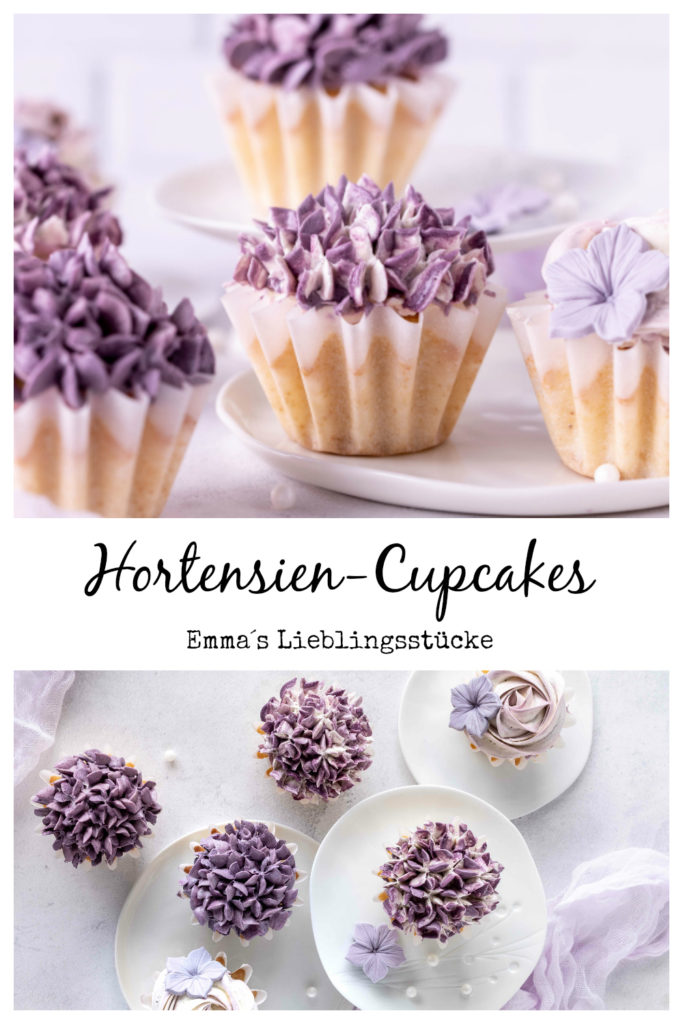 Rezept für Hortensien-Cupcakes