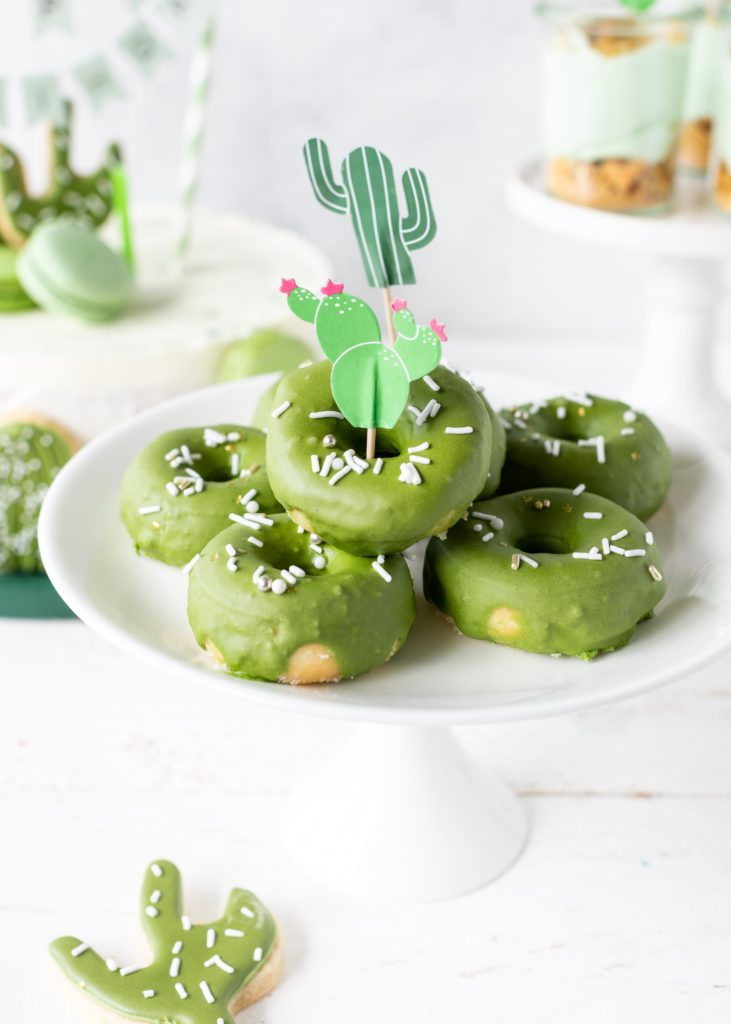 Kaktus-Donuts Kaktusparty