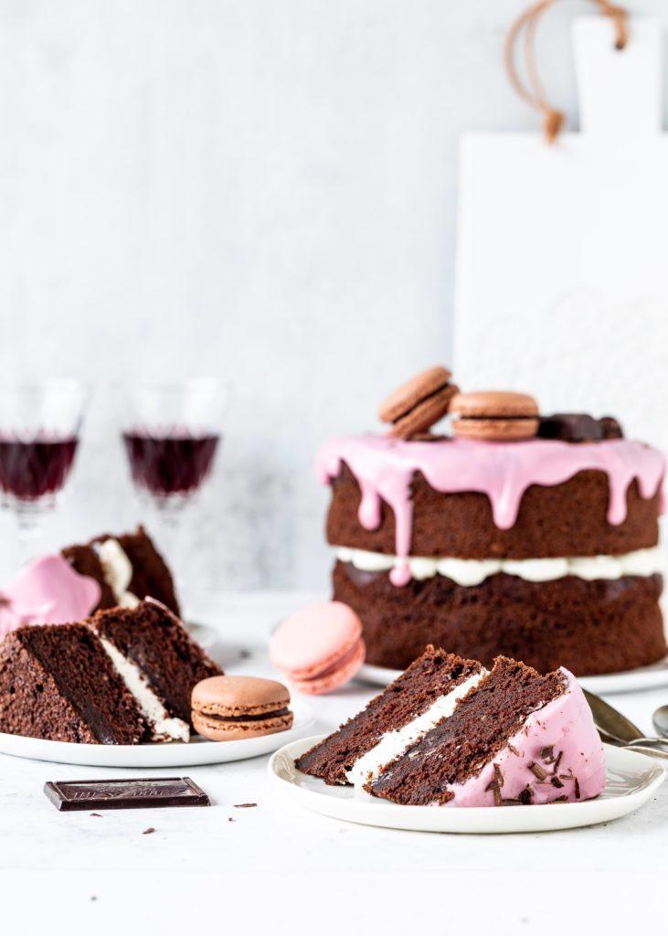 Einfache Schokoladen Rotwein Torte Rezept Backen Backblog