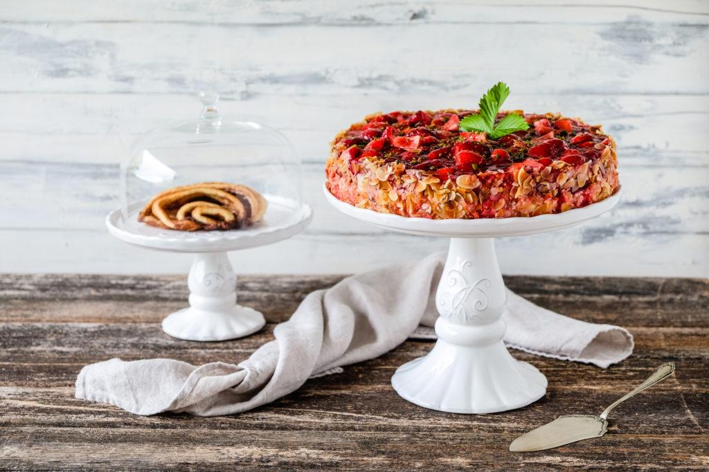 Marmorkuchen Torte Rezept Winterlandschaft Backen Weihnachten