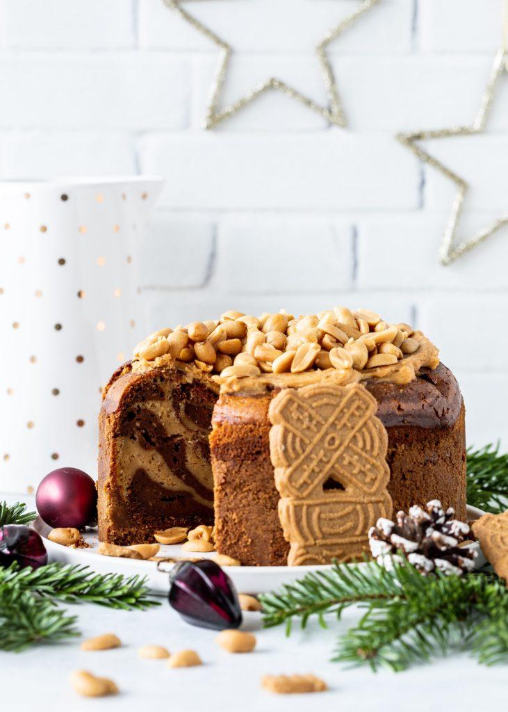 Rezept für einen Peanutbutter Schoko Cheesecake mit Spekulatius Knusperboden Käsekuchen #cheesecake #peanutbutter Erdnussbutter Marple