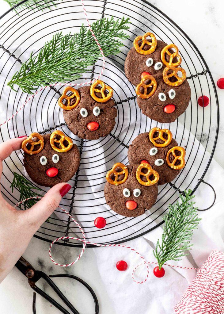 Reindeer Cookies Rezept Rentiere einfach backen Weihnachten lecker #christmascookies #cookies #christmas #reindeer #rentierkekse