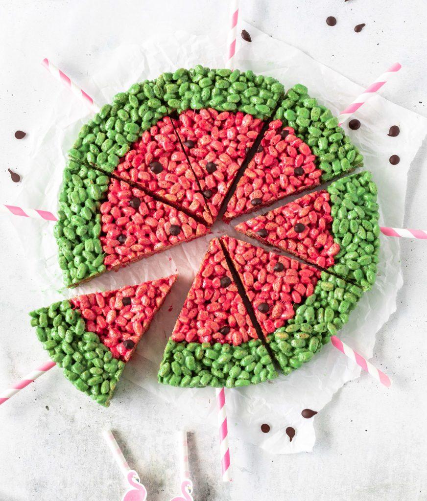 Motivtorten Rice Krispies Backen Wassermelone Watermelon Backbuch Fondant Rezept Anleitung Tutorial Emma's Lieblingsstücke
