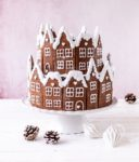 Rezept für Lebkuchen Torte Weihnachtstorte backen Royal Icing Gingerbread Lebkuchenhaus Backen #gingerbread #christmas #torte