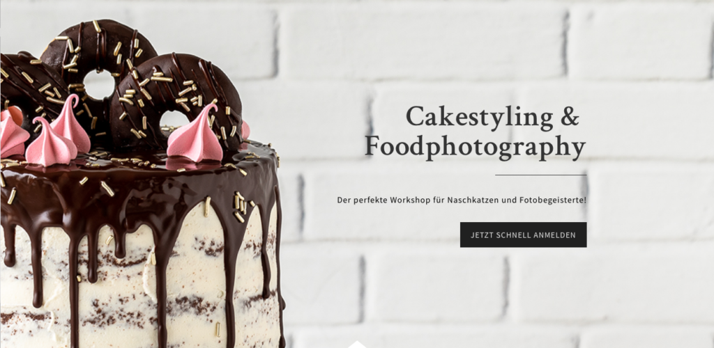 Cake Styling Food Photography Workshop Drip Cake Fotografie