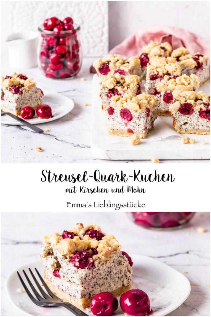 ein k sekuchen rezept streusel quark kuchen mit mohn und kirschen emma 39 s lieblingsst cke. Black Bedroom Furniture Sets. Home Design Ideas