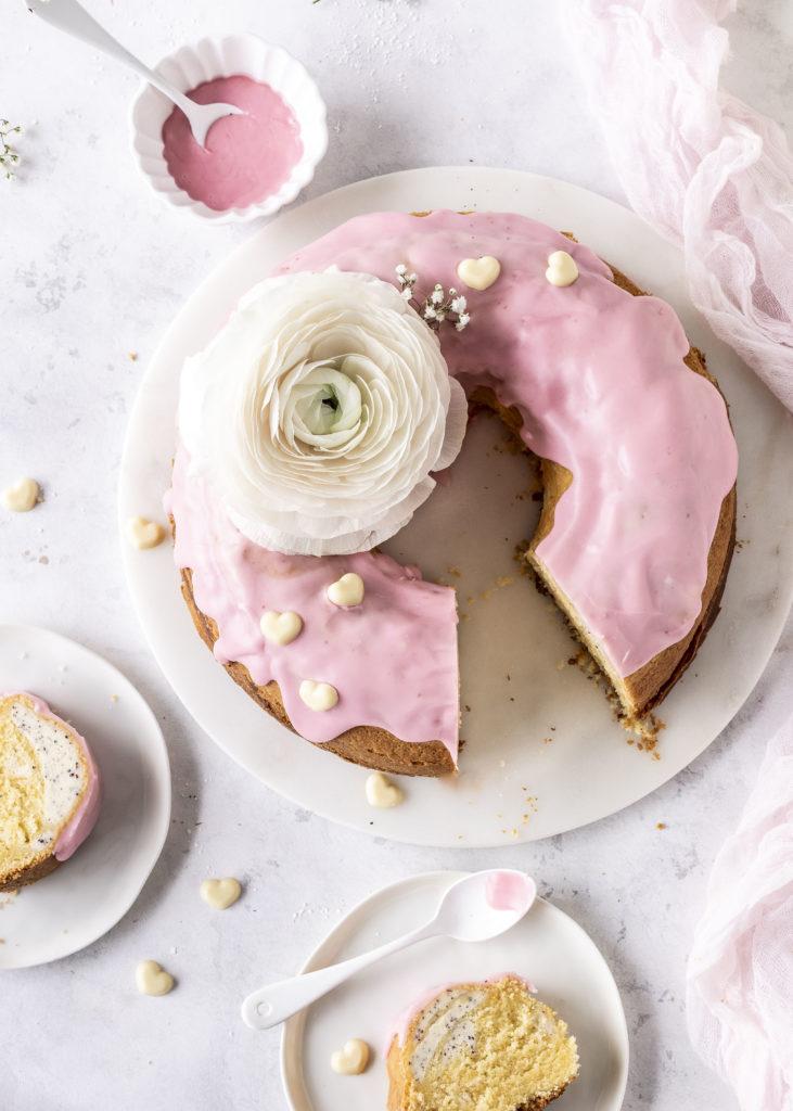 Blutorangen Gugelhupf mit Mohn Käsekuchen Füllung Cheesecake backen Poppyseed #gugelhupf #kuchen #bundtcake #cheesecake | Emma´s Lieblingsstücke