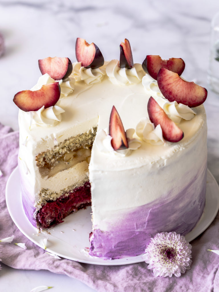 Rezept: Apfel Pflaume Mohn Torte backen Herbst Soulfood lecker Poppyseed cake autmn #poppyseed #mohn #apfel #pflaume foodblog blogger foodphotography | Emma´s Lieblingsstücke