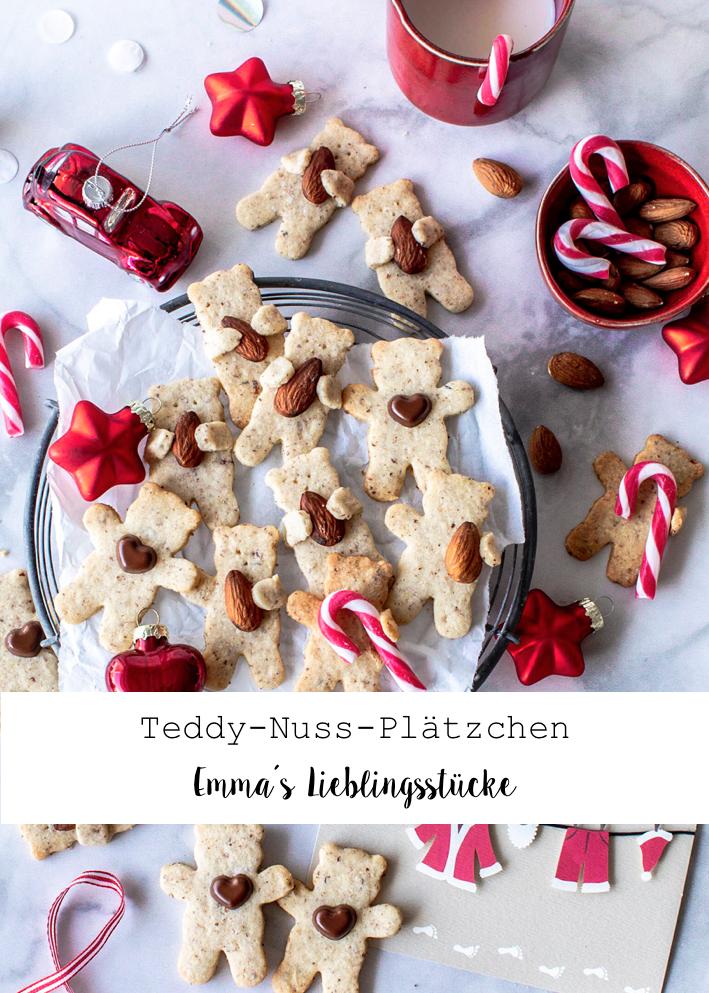 Rezept für Teddy Plätzchen mit Haselnuss backen Weihnachten Advent Bear Cookies Christmas #christmas #plätzchen #weihnachten #backen Emma´s Lieblingsstücke